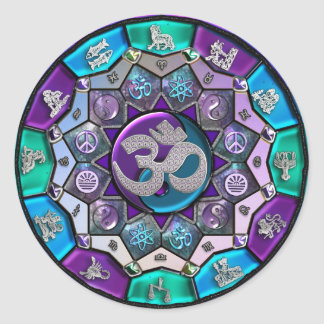 UROCK Unabhängigkeits-Mandala ~ BTC Runder Aufkleber