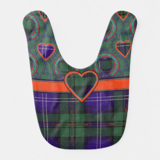 Urquhart Clan karierter schottischer Tartan Lätzchen