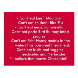 Ursachen - gesunde Ernährung Postkarte