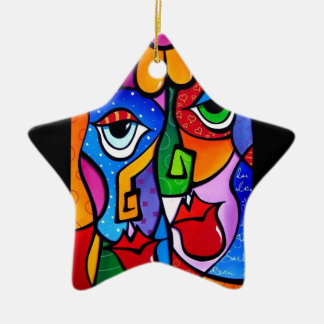 Ursprünglich-Abstrakt-Pop-Kunst-Satisfactio Keramik Ornament