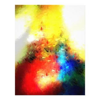 Ursprüngliche abstrakte Malerei 21,6 X 27,9 Cm Flyer