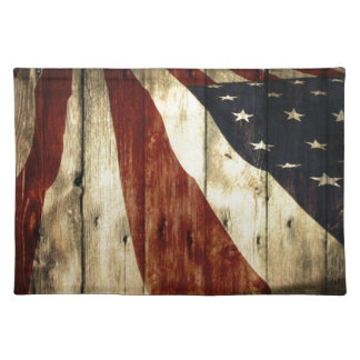 Ursprüngliche Americanawoodgrain amerikanische Stofftischset