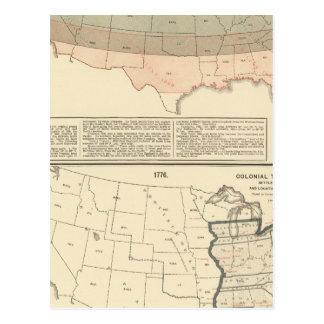 Ursprüngliche Bewilligungen von 1776 vereinbartem Postkarte
