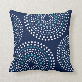 Ursprüngliche Boho Mosaik-Muster-Aqua-Marine Kissen