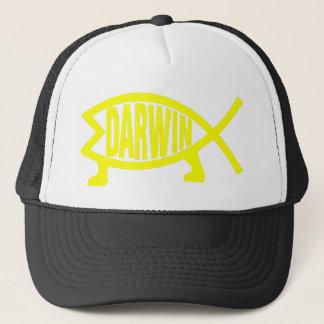 Ursprüngliche Darwin-Fische (Gelb) Truckerkappe