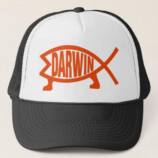 Ursprüngliche Darwin-Fische (Neonorange) Truckerkappe