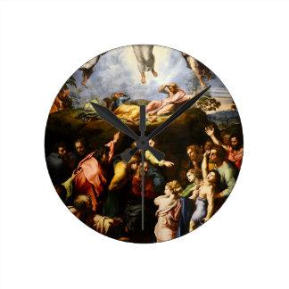 """Ursprüngliche Farbe """"der Transfiguration"""" Runde Wanduhr"""