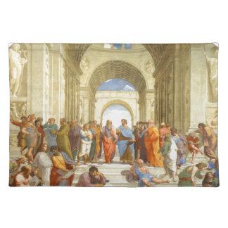 """Ursprüngliche Farbe """"die Schule von Athen"""" durch Tischset"""