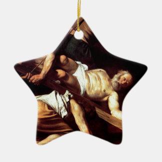 """Ursprüngliche Farbe """"La Crocifissione di s Pietro Keramik Ornament"""