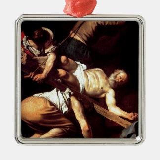 """Ursprüngliche Farbe """"La Crocifissione di s Pietro Silbernes Ornament"""