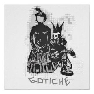 Ursprüngliche gotische Punkfelsen-Hand Perfektes Poster