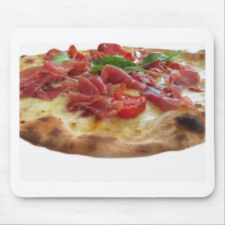Ursprüngliche italienische Pizza mit Schinken, Mauspads