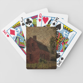 Ursprüngliche Leinwandlandbauernhaus-Rotscheune Bicycle Spielkarten