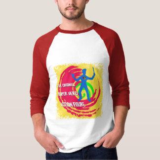 Ursprüngliche Superheld-Action-Figur T-Shirt