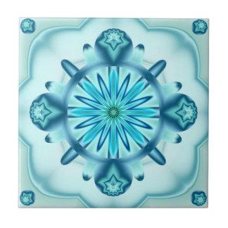Ursprüngliche Türkis-Blau-Fraktal Design-Fliese Fliese
