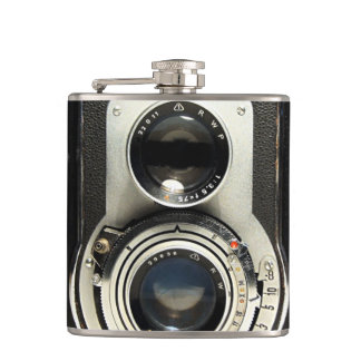 Ursprüngliche Vintage Kamera Flachmann