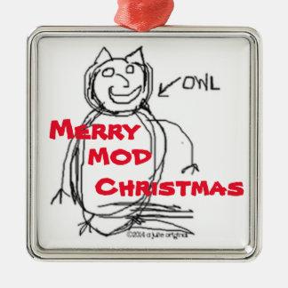 Ursprüngliche Weihnachtsverzierung 2015 Julie Quadratisches Silberfarbenes Ornament