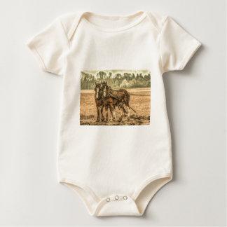 Ursprüngliche Westernland-Vieh-Entwurfspferde Baby Strampler