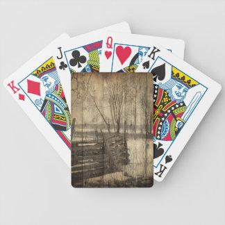 Ursprüngliche Westernlandzaun-Bauernhoflandschaft Bicycle Spielkarten