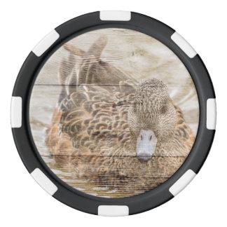 Ursprüngliche Woodgrainland-Teich-Wildente Poker Chip Set