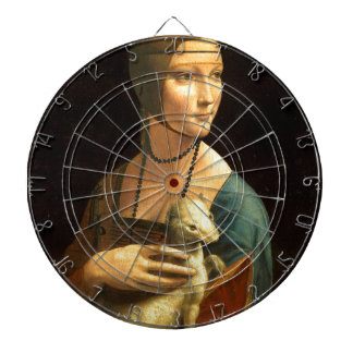 Ursprünglichen Da Vinci Farbe Dame mit einem Dartscheibe