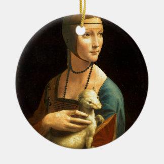 Ursprünglichen Da Vinci Farbe Dame mit einem Keramik Ornament