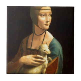 Ursprünglichen Da Vinci Farbe Dame mit einem Keramikfliese