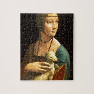 Ursprünglichen Da Vinci Farbe Dame mit einem Puzzle