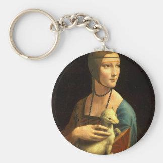 Ursprünglichen Da Vinci Farbe Dame mit einem Schlüsselanhänger
