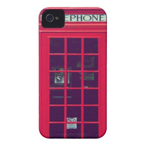 Ursprünglicher britischer Telefonkasten iPhone 4 Hülle