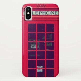 Ursprünglicher britischer Telefonkasten iPhone X Hülle