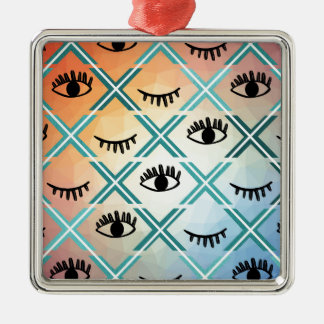 Ursprünglicher bunter Augen-Entwurf Silbernes Ornament