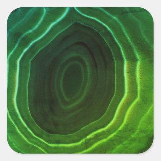 Ursprünglicher Entwurfs-Untersetzer der grünen Quadratischer Aufkleber