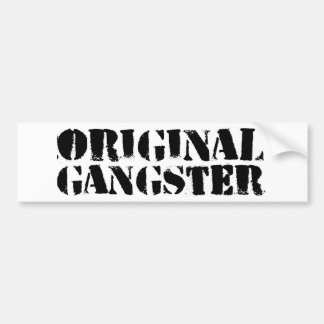 Ursprünglicher Gangster Autoaufkleber