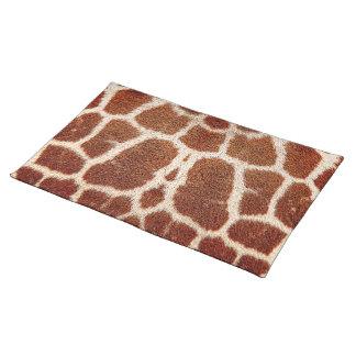 Ursprünglicher Giraffenpelz Tischset