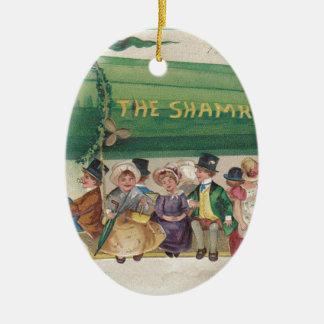 Ursprünglicher Heiligen Patrick TagesVintages Ovales Keramik Ornament