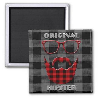 Ursprünglicher Hipster Quadratischer Magnet