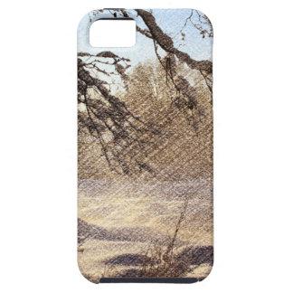 Ursprünglicher Kiefer-Waldwinter-Wald Etui Fürs iPhone 5
