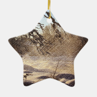 Ursprünglicher Kiefer-Waldwinter-Wald Keramik Ornament
