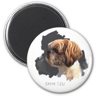 Ursprünglicher Kunst-Magnet Shih Tzu Runder Magnet 5,1 Cm