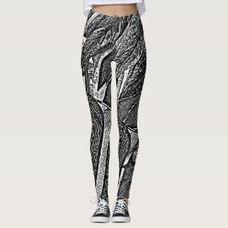 ursprünglicher Kunstentwurf des abstrakten Leggings
