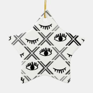 Ursprünglicher Schwarzweiss-Augen-Entwurf Keramik Ornament