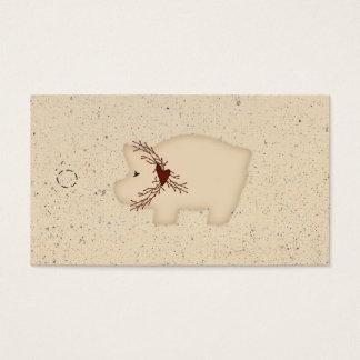 Ursprünglicher Schwein-Fall-Umbau Visitenkarte