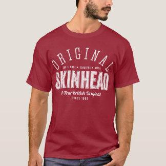 Ursprünglicher Skinhead - weißer Text T-Shirt
