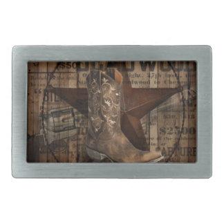 Ursprünglicher Stern-Western-Land-Cowboy Texas Rechteckige Gürtelschnalle