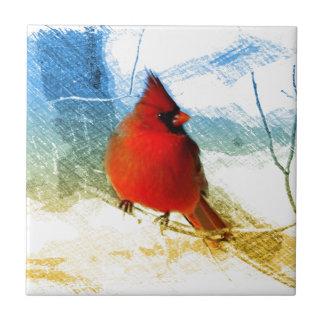 Ursprünglicher Westernlandweihnachtsrot-Kardinal Fliese