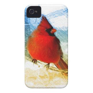 Ursprünglicher Westernlandweihnachtsrot-Kardinal iPhone 4 Etuis