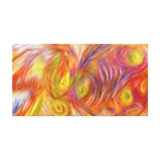 Ursprüngliches abstraktes leinwanddruck