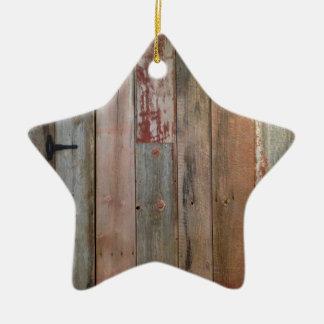 ursprüngliches Bauernhaus-Westernland-Scheunenholz Keramik Ornament