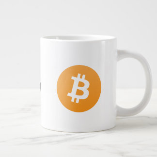 Ursprüngliches Bitcoin Logo-große Kaffee-Tasse Jumbo-Tasse